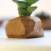 Цветы и флористика ручной работы. Ярмарка Мастеров - ручная работа Кашпо из дерева. Handmade.