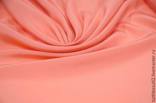 Шитье ручной работы. Ярмарка Мастеров - ручная работа. Купить Блузочная ткань 12-300-0143. Handmade. Коралловый