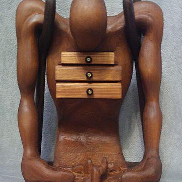 Для дома и интерьера ручной работы. Ярмарка Мастеров - ручная работа Скульптура из дерева в стиле С.Дали. Handmade.