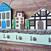 Для дома и интерьера handmade. Livemaster - original item Housekeeper Spring in the city 2.The housekeeper wall. decor polymer clay.. Handmade.