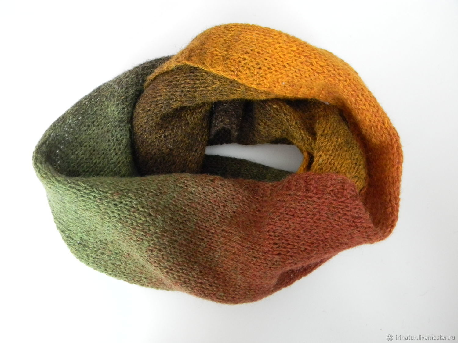 Snood Autumn from yarn of natural composition, Snudy1, Magnitogorsk,  Фото №1