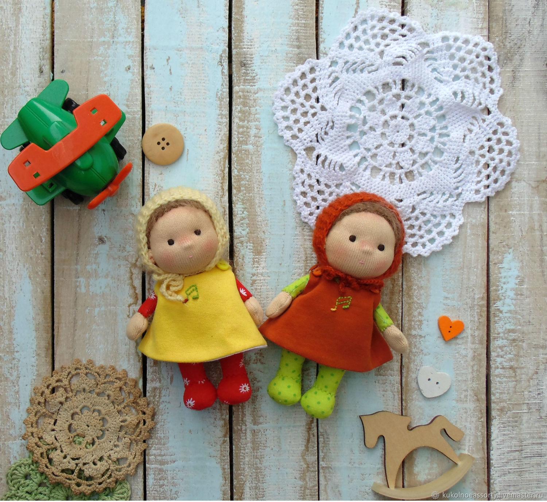Вальдорфские куклы Карамельки  13 см, Вальдорфские куклы и звери, Североуральск,  Фото №1
