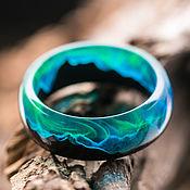 Украшения handmade. Livemaster - original item Ring made of wood and epoxy resin