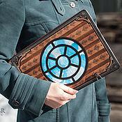 Канцелярские товары ручной работы. Ярмарка Мастеров - ручная работа Папка для художника «Steam Powered Zeppelin». Handmade.