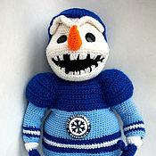 Мягкие игрушки ручной работы. Ярмарка Мастеров - ручная работа Снеговик Сибирь. Handmade.