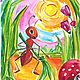 Иллюстрации к сказкам. Открытки. Олеся Осипова Яркая живопись. Интернет-магазин Ярмарка Мастеров. Фото №2