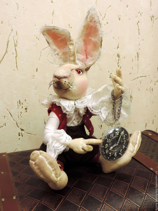 """Коллекционные куклы ручной работы. Ярмарка Мастеров - ручная работа. Купить Кролик. Серия """"Алиса в стране чудес"""". Handmade. Комбинированный"""