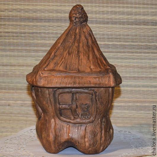 Кухня ручной работы. Ярмарка Мастеров - ручная работа. Купить Домик для гномика (волшебный горшочек). Handmade. Коричневый, Керамика