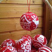 Подарки к праздникам ручной работы. Ярмарка Мастеров - ручная работа Ёлочный шарик с оленем. Handmade.