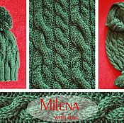 Аксессуары handmade. Livemaster - original item Set knitted Emerald, knitted hat and knitted scarf.. Handmade.