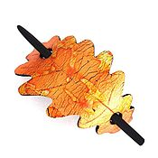 Украшения handmade. Livemaster - original item Barrette Golden autumn (oak leaves, Golden, hair pin shawl). Handmade.
