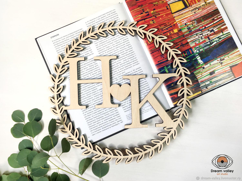 Свадебная монограмма, Свадебные аксессуары, Курск,  Фото №1