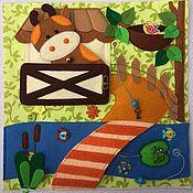 Куклы и игрушки ручной работы. Ярмарка Мастеров - ручная работа развивающая книжка на стихи Агнии Барто. Handmade.