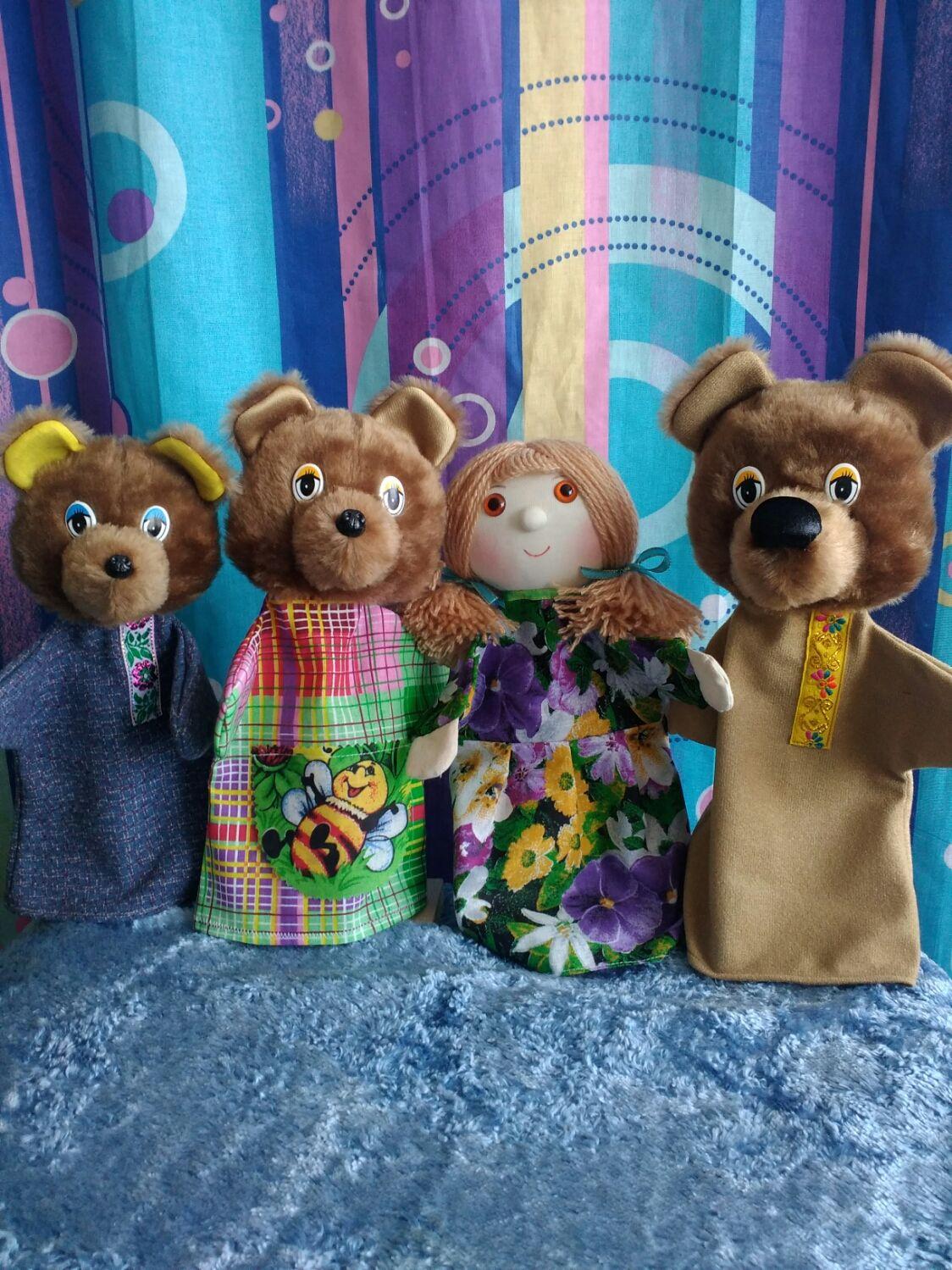 """Кукольный театр на руку. Сказка """"Три медведя"""", Кукольный театр, Санкт-Петербург,  Фото №1"""