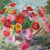 Картины и панно handmade. Livemaster - original item Oil painting with flowers 50/70