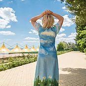 """Одежда ручной работы. Ярмарка Мастеров - ручная работа Валяное платье """"Лето"""". Handmade."""