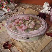 """Для дома и интерьера ручной работы. Ярмарка Мастеров - ручная работа """"Там, где дикая роза цветет"""" шкатулка. Handmade."""