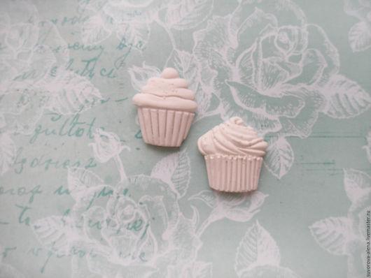 """Открытки и скрапбукинг ручной работы. Ярмарка Мастеров - ручная работа. Купить набор """"2 кекса"""". Handmade. Белый, гипсовые изделия"""