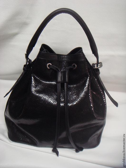 Женские сумки ручной работы. Ярмарка Мастеров - ручная работа. Купить Сумка-мешок. Handmade. Черный, сумка-мешок