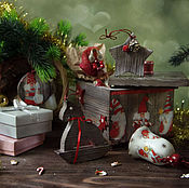 Для дома и интерьера handmade. Livemaster - original item Christmas boxes with toys the Secret of a small company. Decoupage. Handmade.