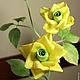 """Броши ручной работы. """"ЛИМОНЧЕЛЛО"""". ЦВЕТЫмания (FLOWERmania). Ярмарка Мастеров. Брошь-цветок, розы ручной работы, цветы из шелка, атлас"""