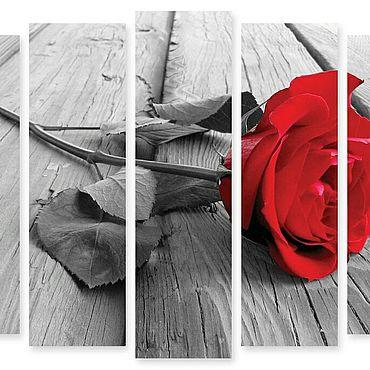 """Картины и панно ручной работы. Ярмарка Мастеров - ручная работа Модульная картина """"Роза"""". Handmade."""