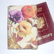 Канцелярские товары handmade. Livemaster - original item Passport cover or avtodokumentov, series
