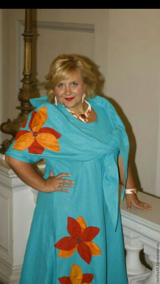 """Платья ручной работы. Ярмарка Мастеров - ручная работа. Купить Платье бирюзовое в пол с шалью """" Листопад """". Handmade."""