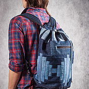 Сумки и аксессуары handmade. Livemaster - original item Backpack denim