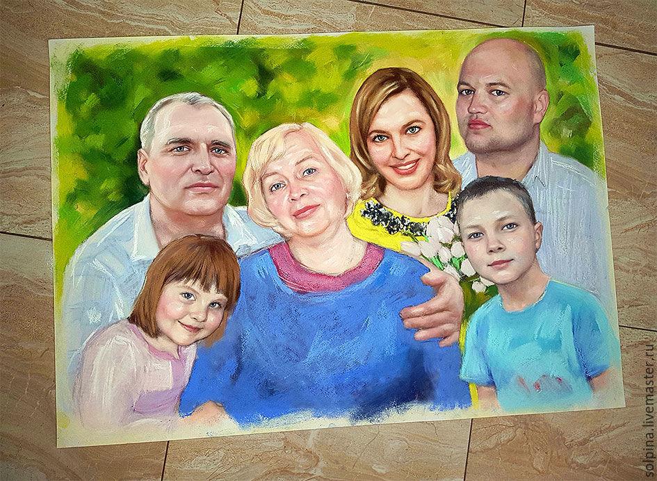 Семейный портрет. Подарок бабушке (крупный формат), Фотокартины, Иркутск,  Фото №1