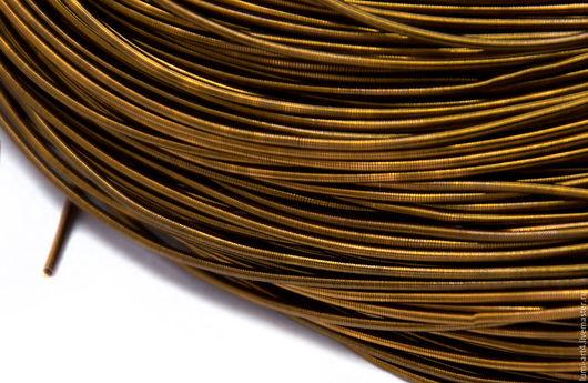 Для украшений ручной работы. Ярмарка Мастеров - ручная работа. Купить Канитель 1мм  мягкая гладкая Темная бронза (KAN-9) Индия. Handmade.