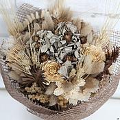 Цветы и флористика ручной работы. Ярмарка Мастеров - ручная работа Букет из сухоцвет Беж. Handmade.
