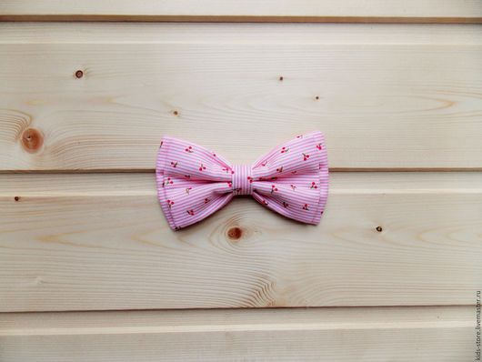 галстук бабочка детская / бабочка галстук с вишенками
