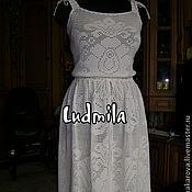 "платье-сарафан ""Белые цветы"""