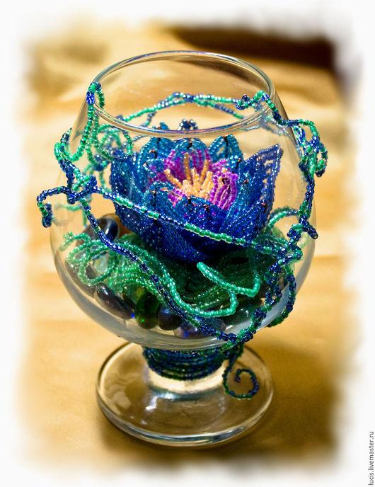 Цветы ручной работы. Ярмарка Мастеров - ручная работа. Купить Лотос. Handmade. Комбинированный, свадьба, лотос, бокал, стеклянный бокал