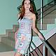 Платья ручной работы. Ярмарка Мастеров - ручная работа. Купить платье Радужный квадрат. Handmade. Платье, платье крючком, квадраты
