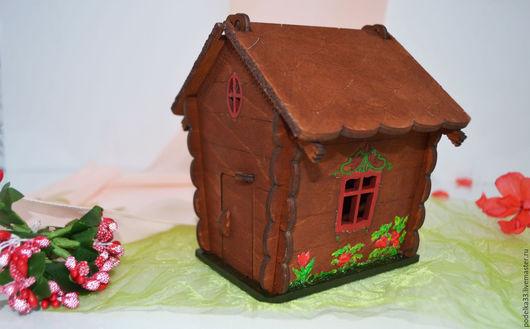 """Кукольный дом ручной работы. Ярмарка Мастеров - ручная работа. Купить Игрушечный домик """"Машенька и медведь"""". Handmade. Коричневый, детские"""