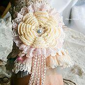 Украшения handmade. Livemaster - original item Boho Bracelet bangle jewelry cuff made of fabric and lace Candi Shop Boho chic. Handmade.
