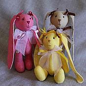 Куклы и игрушки ручной работы. Ярмарка Мастеров - ручная работа Гороховые зайки-малышки. Handmade.