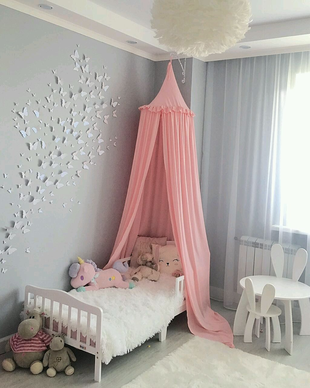 Pale pink canopy bed ' ruffle 'Anetta'/ Tent in baby's crib, Textiles, Moscow,  Фото №1