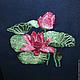 """Картины цветов ручной работы. Ярмарка Мастеров - ручная работа. Купить Вышитая картина-панно """"Кувшинки"""". Handmade. Разноцветный, кувшинки"""