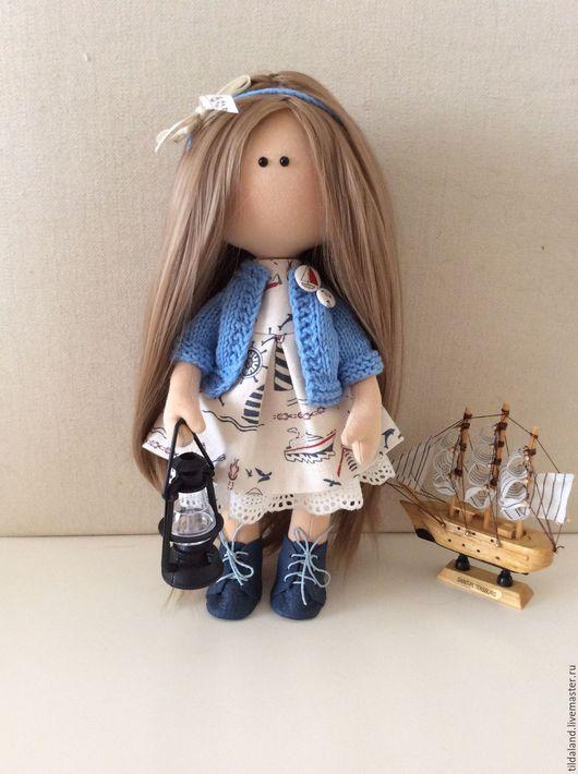 Куклы тыквоголовки ручной работы. Ярмарка Мастеров - ручная работа. Купить Глория. Handmade. Комбинированный, кукла интерьерная, морская тема