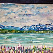 Картины и панно handmade. Livemaster - original item Near the lake.. Handmade.