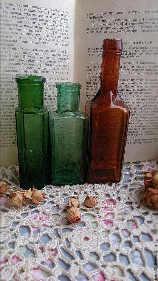 Винтажные предметы интерьера. Ярмарка Мастеров - ручная работа. Купить Бутылка старинная (Германия) #33. Handmade. Зеленый, вещи с историей