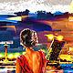 Закладка для книг  «Незнакомка». Картины. Декупаж-жикле (dekupazh-zhikle). Интернет-магазин Ярмарка Мастеров.  Фото №2