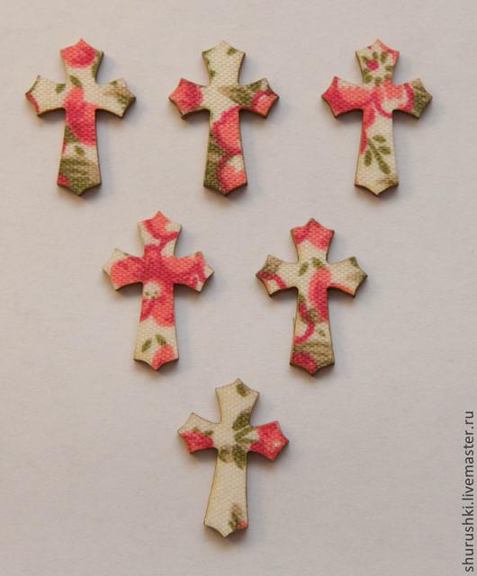 Упаковка ручной работы. Ярмарка Мастеров - ручная работа. Купить Крестик деревянный. Handmade. Разноцветный, Крестины, пасхальный сувенир