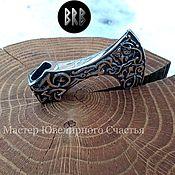 "Русский стиль handmade. Livemaster - original item Obereg ""Axe of Perun"" silver 925. Handmade."
