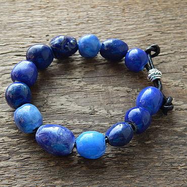 Украшения ручной работы. Ярмарка Мастеров - ручная работа Синий керамический браслет. Handmade.