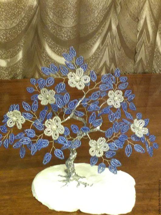 Деревья ручной работы. Ярмарка Мастеров - ручная работа. Купить Зимняя сказка. Handmade. Зима, бисер