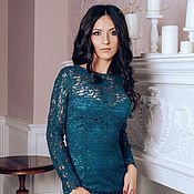 Одежда handmade. Livemaster - original item Dress silk lace. Handmade.